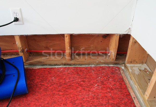 Stock photo: drying water damage