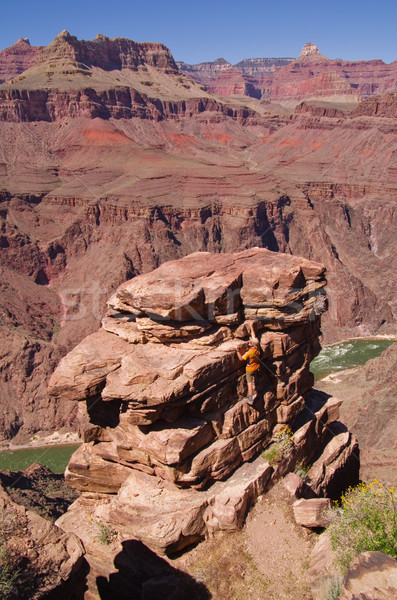 Man Climbing at Grand Canyon Stock photo © pancaketom