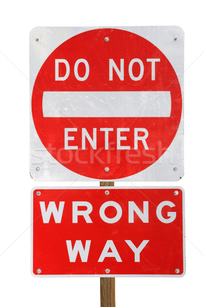 do not enter wrong way  Stock photo © pancaketom