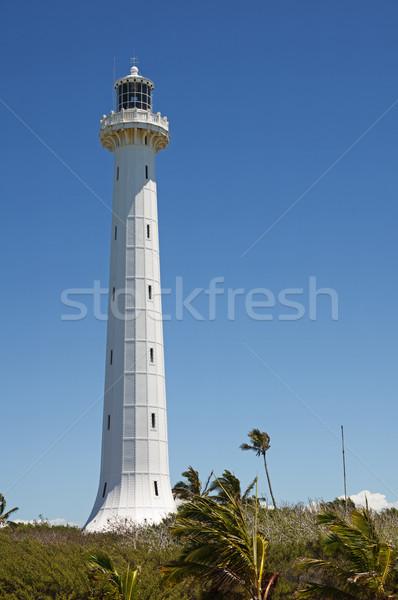 Sziget világítótorony fehér festett vasaló új Stock fotó © pancaketom