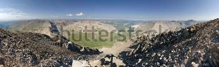 Demokrat panorama dağ ufuk Stok fotoğraf © pancaketom