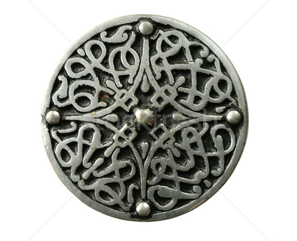 Stock photo: isolated celtic brooch