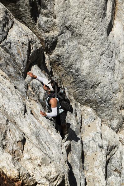 Woman Climbing Stock photo © pancaketom
