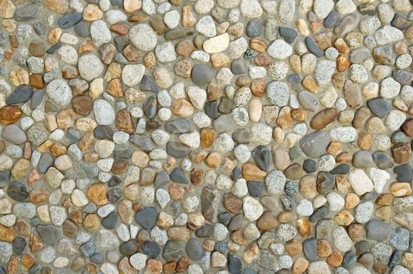 Washed Cobble Wall Background Stock photo © pancaketom