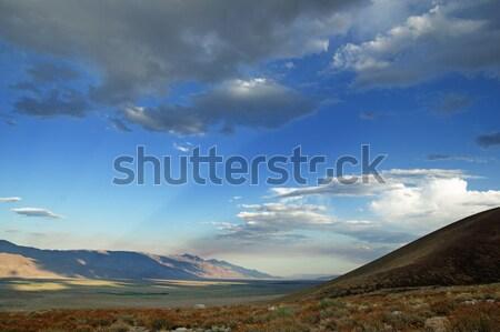 Sunrays Across Owens Valley Stock photo © pancaketom