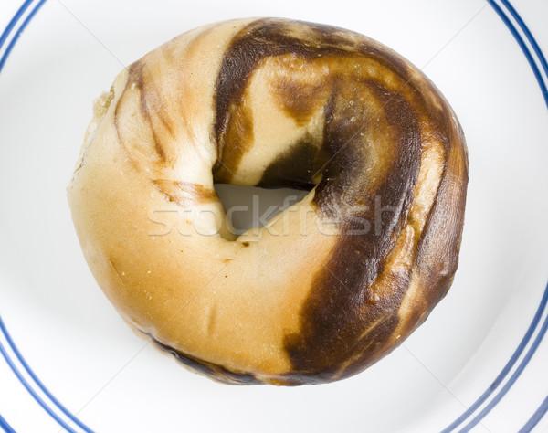 marbled bagel Stock photo © pancaketom