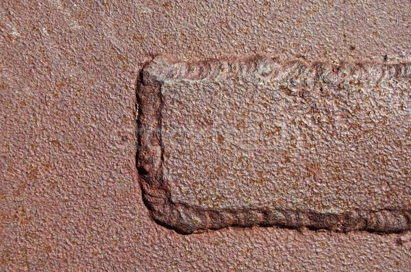 Welded Rusty Iron Stock photo © pancaketom