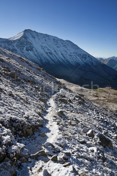 Hegy nyom hó hideg Stock fotó © pancaketom