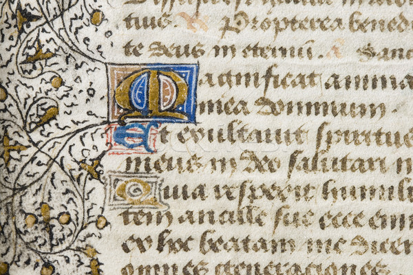 illuminated manuscript detail Stock photo © pancaketom