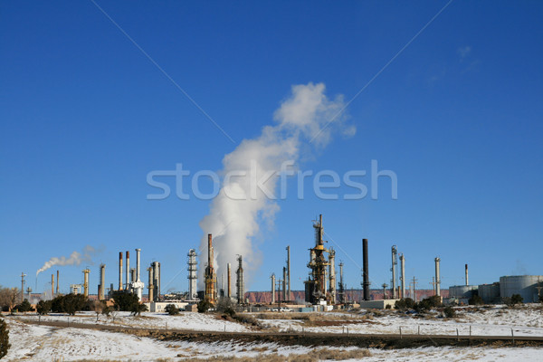 oil refinery Stock photo © pancaketom