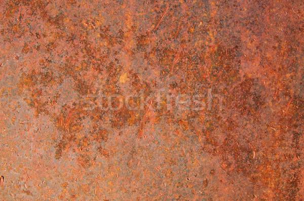 Velho ferro superfície enferrujado textura fundo Foto stock © pancaketom
