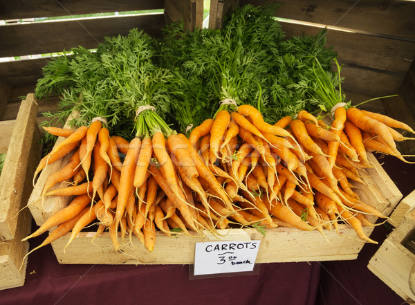 Stock photo: Farmers Market Carrots