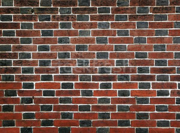red and black bricks Stock photo © pancaketom
