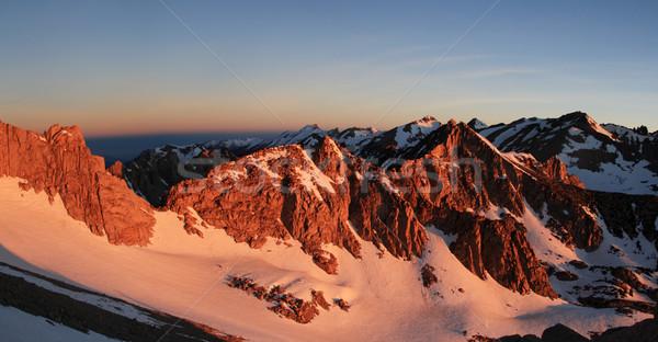 Sierra mountains sunrise Stock photo © pancaketom