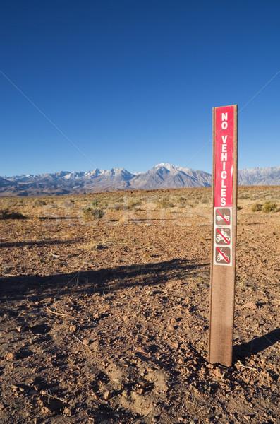 No Vehicles Sign Stock photo © pancaketom