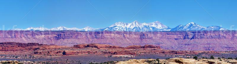 Canyonlands Mountain Panorama Stock photo © pancaketom