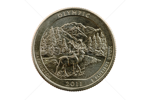 Olympic National Park Quarter Coin Stock photo © pancaketom