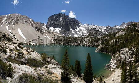 Sierra Mountain Lake Panorama Stock photo © pancaketom