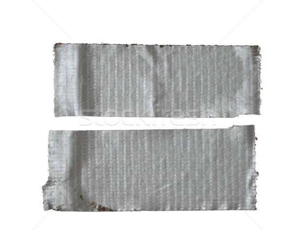 孤立した 2 汚い ストリップ 銀 ストックフォト © pancaketom