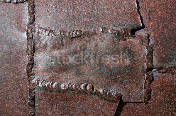 Stock photo: Old Welded Metal Background