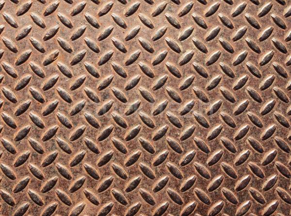 Old Diamond Tread Metal Stock photo © pancaketom