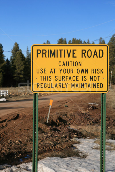 primitive road sign Stock photo © pancaketom