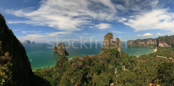 tropical coast panorama Stock photo © pancaketom