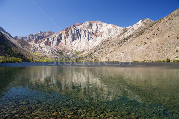 Mahkum göl defne dağ su sonbahar Stok fotoğraf © pancaketom