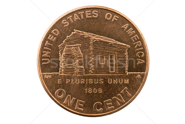 Lincoln Cabin Penny Coin Stock photo © pancaketom