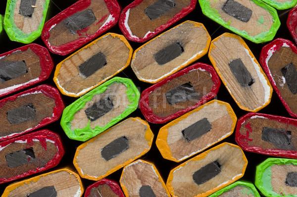 Carpintero lápiz mixto color textura Foto stock © pancaketom