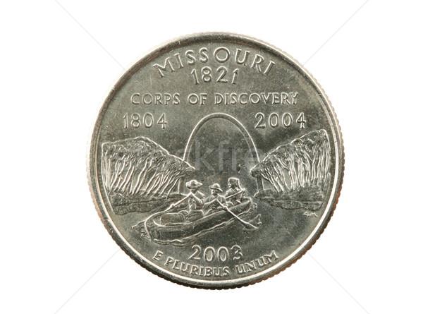 孤立した ミズーリ州 四半期 コイン 白 銀 ストックフォト © pancaketom