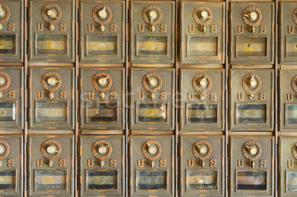 Old US Mailboxes Stock photo © pancaketom