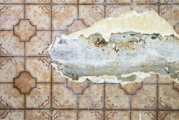 Ripped Linoleum Floor Stock photo © pancaketom