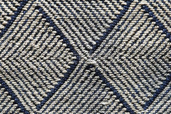 Doek Blauw grijs achtergrond patroon textiel Stockfoto © pancaketom