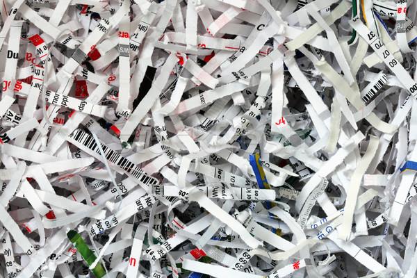 shredded document background Stock photo © pancaketom