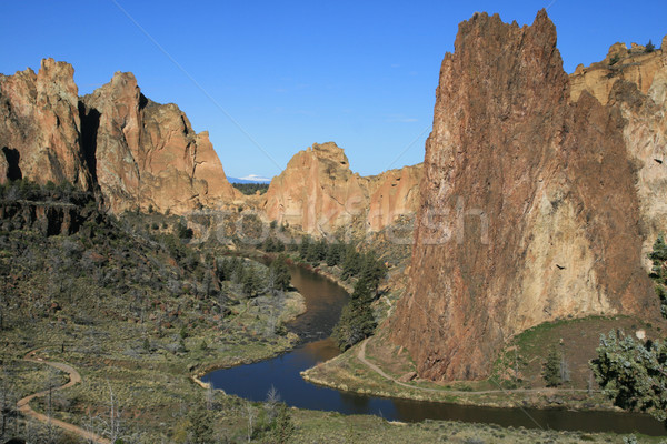Crooked River through Smith Rock Stock photo © pancaketom