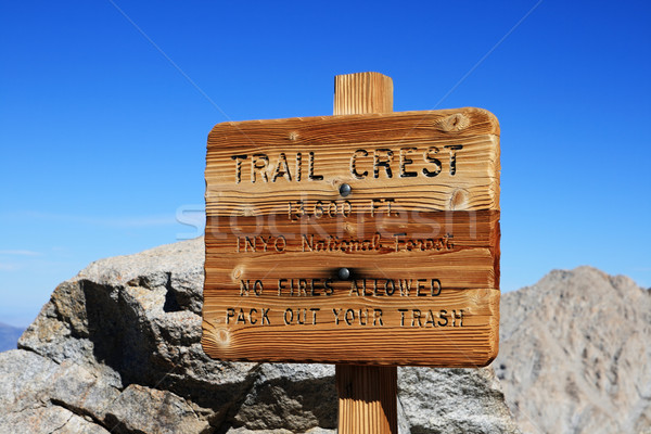 Trail Crest Sign Stock photo © pancaketom