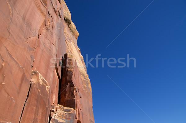 Indian Creek crack climbing Stock photo © pancaketom