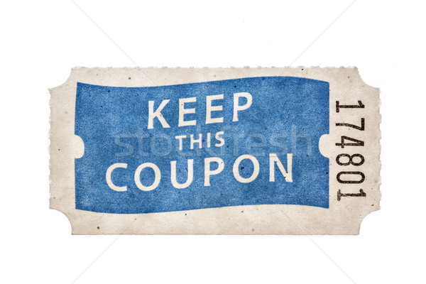 Raffle Coupon Ticket Stock photo © pancaketom