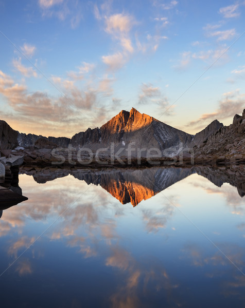 Sierra Mountain Lake Reflection Stock photo © pancaketom