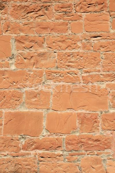 Piros homokkő fal öreg textúra Stock fotó © pancaketom
