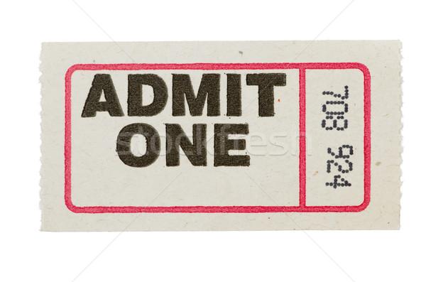 admit one gray ticket Stock photo © pancaketom