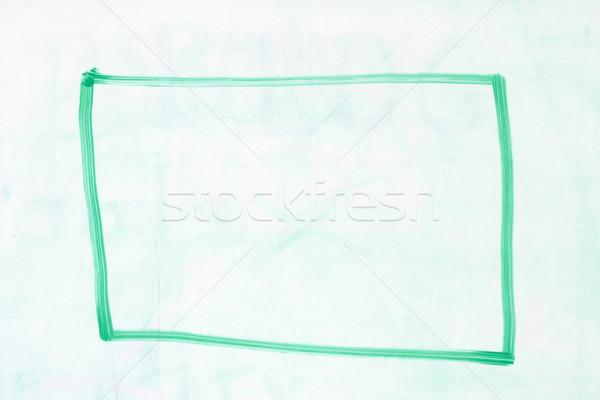 box outline on whiteboard Stock photo © pancaketom