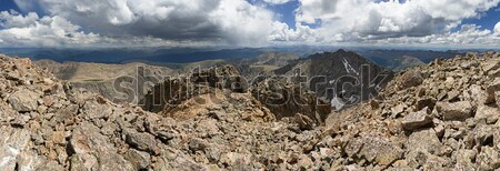 Colorado Mountain Summit Panorama Stock photo © pancaketom