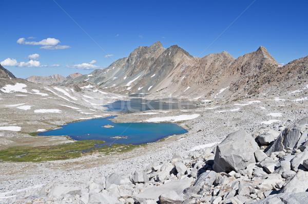 Jezioro kanion krajobraz górskich Zdjęcia stock © pancaketom