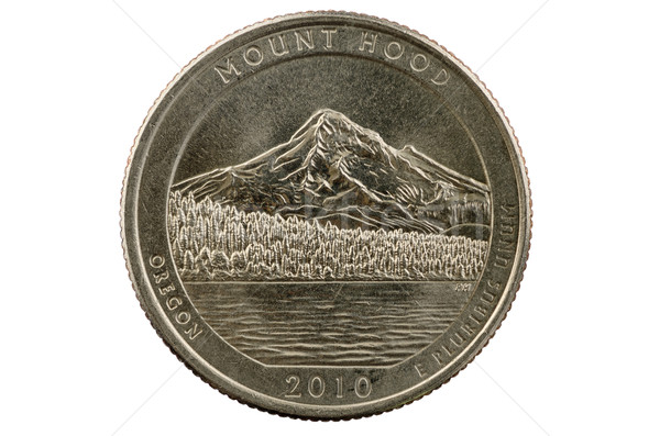 Mount Hood Quarter Coin Stock photo © pancaketom