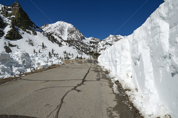 雪 山 道路 アップ タマネギ 谷 ストックフォト © pancaketom
