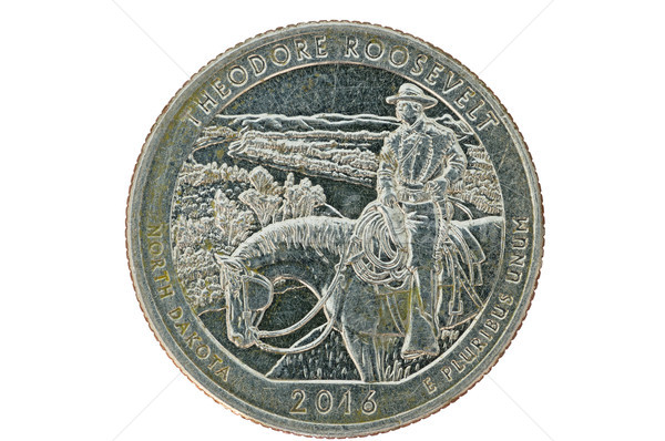 Theodore Roosevelt Commemorative Quarter Coin Stock photo © pancaketom
