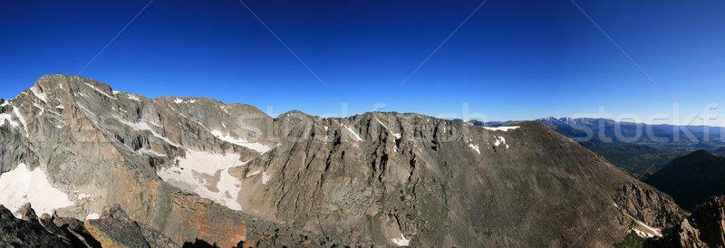 Stock photo: Rocky mountain panorama