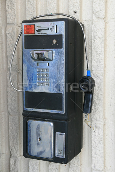 Törött illetmény telefon nyilvános USA telefon Stock fotó © pancaketom